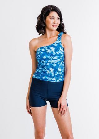 Layla Crop Swim Top With Swim Shorts