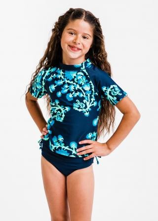 Girl's Surfer Swim Top With Bikini Bottom