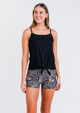 Riley Knotted Swim Top With Swim Shorts
