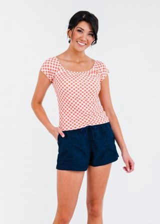 """Zoey Crop Swim Top With 2""""-3"""" Board Shorts"""