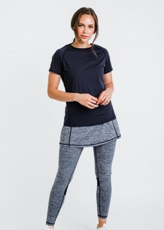 """Pro Performance Top With Short Lycra Sport Skirt With Attached 27"""" Leggings"""