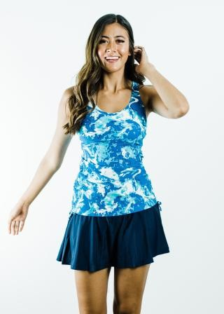 Maya Swim Top With Flowy Swim Skort