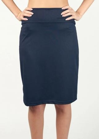 Stretchy Basic Modest Pencil Skirt - FINAL SALE
