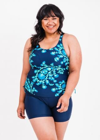 Plus Size Maya Swim Top With Swim Shorts