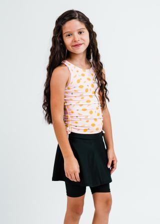 Girl's Abby Swim Top With Midi Swim Skort