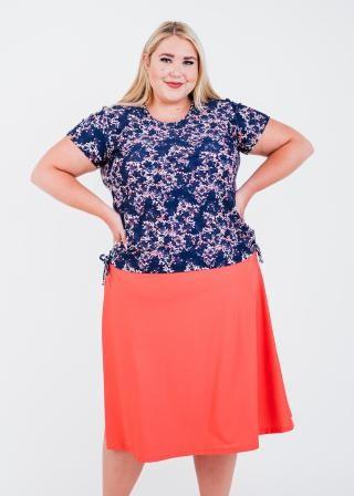 Plus Size Adele Swim Top With Long Swim Skort
