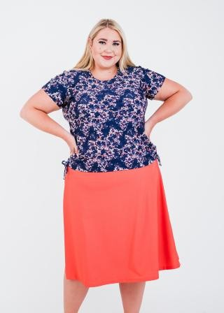 Plus Size Adele Swim Top With Long Swim Skort