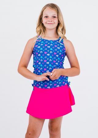Girl's Abby Swim Top With Short Swim Skort