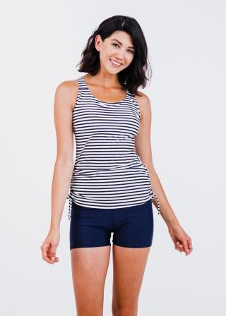 Maya Swim Top With Swim Shorts