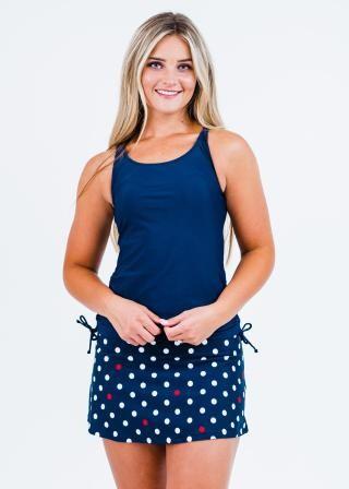 Maya Swim Top With Short Swim Skort