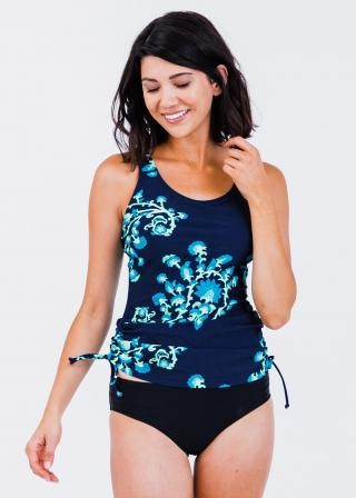 Maya Swim Top With Bikini Bottoms