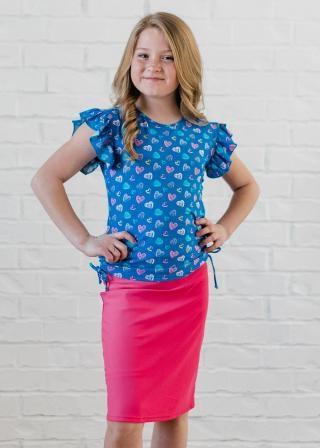 Girl's Chloe Swim Top With Knee Length Swim Skort