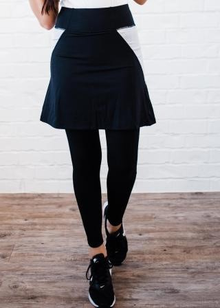 "Above Knee Sport Skirt With Attached 27"" Leggings"