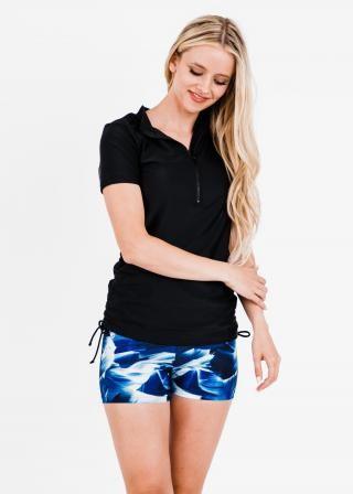Half-Zip Adele Swim Top With Swim Shorts