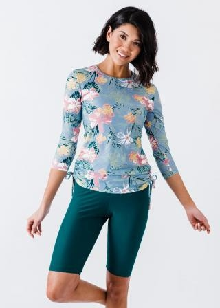 Margaux Swim Top With Long Bike Swim Shorts