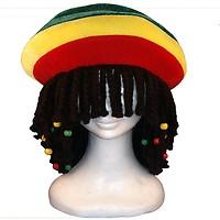 e1df42c62c Bonnet Rasta Jamaïque avec dreadlocks - Jour de Fête - Boutique Jour ...