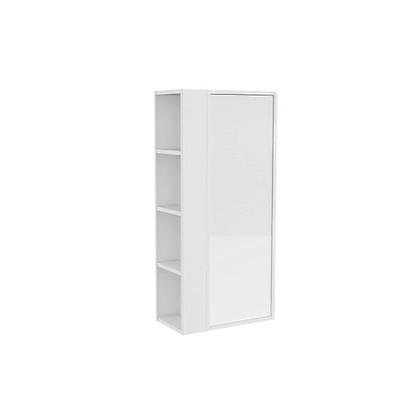 Armario con estante lateral B-SMART Bath+ color Blanco Brillo-Blanco d6ab12c96a90
