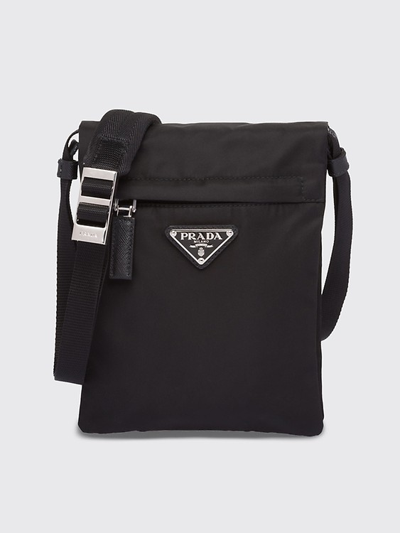 76c0ab74fb Très Bien - Prada Logo Plaque Nylon Harness Bag Black