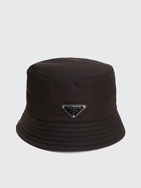 Très Bien - Prada Nylon Bucket Hat Triangle Logo White 24bad34e57ea
