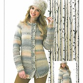 6d11910bc0e62 Womens  Sweater and Slipover in James C Brett Marble Chunky JB338