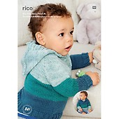7ed0d461e605 Rico Baby Sweaters Knitting Pattern in Baby Classic Dk and Prints Dk