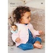 25030f426e3b Rico Baby Cardigans Crochet Pattern in Rico Baby So Soft Print Dk