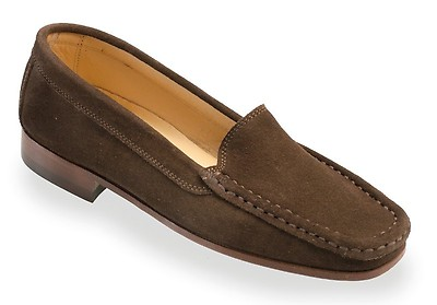 a0e5a537c02 SCALA Ladies Chocolate Suede Italian Loafer