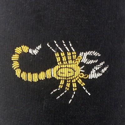 974da92c1fde Mens NARROW Scorpio Motif Black Velvet Slipper - UK 7.5