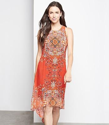 Plus Size Print Hi Lo Maxi Dress