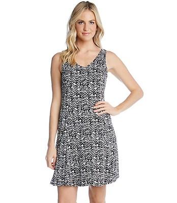 Plus Size Scuba Print Dress-Print-0X