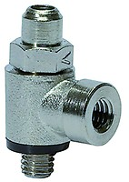 15 bar max Arbeitsdr Drosselr/ückschlagventil /»Blaue Serie/« f Kunststoff//MS vern. Zuluftdros G 1//8 a Schl.-Au/ßen-/Ø 8 mm