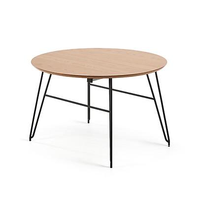 Table ovale extensible Novac 170x100 cm bois et pieds métal - Kave Home d3285096c08c
