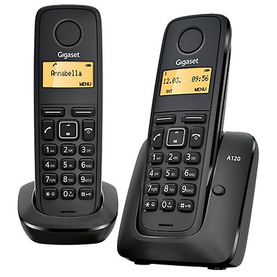 Gigaset A120 ECO DECT Cordless Phone Twin Pack