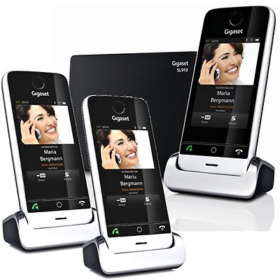 Gigaset SL910A Cordless DECT Phone Triple Pack