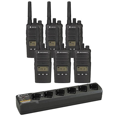 Motorola XT460 Six Pack with Six Way Charger