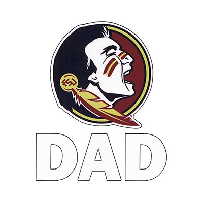 Seminole Head Dad Vinyl Decal 4765b11c2