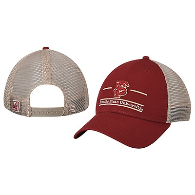 Adjustable Mesh Back Cap with FS Florida State University Bar Design by The  Game a23d91e7ea81