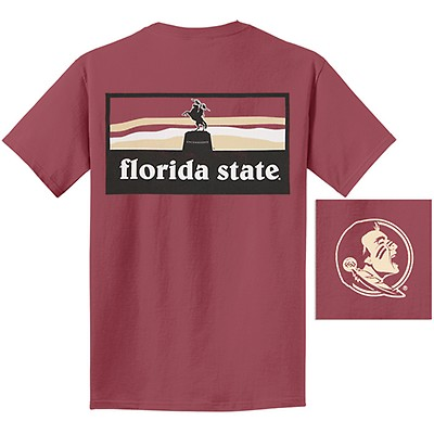 Comfort Colors Men s Florida State Unconquered Statue T-shirt - Brick 47e1f1cb7