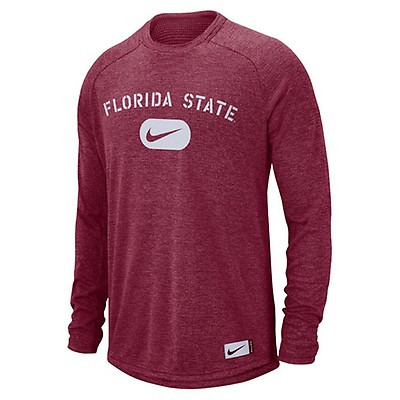 8bd8379b7a94 Nike Men s Florida State Dri-FIT Long Sleeve Stadium T-shirt - Garnet