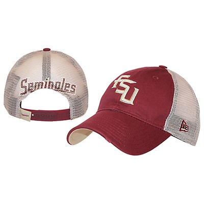 f6567793cca Adjustable Snap Back Trucker Cap with Stacked FSU by New Era