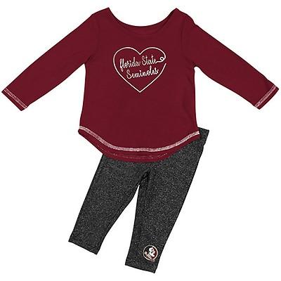 3dce002011d1 Colosseum Toddler Girl's Florida State Seminoles Long Sleeve T-shirt an.