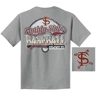 0f88eb1ef3aa Image One Youth Florida State Baseball Short Sleeve T-shirt - Grey