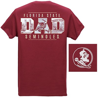 68d661e4d Image One Men's Florida State Dad Campus Photo Short Sleeve T-shirt - G..