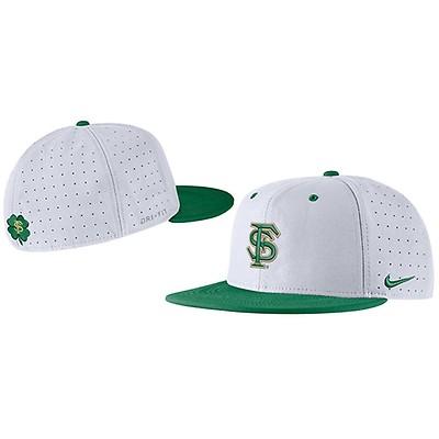 ede049dc03c52 Nike FSU Baseball Shamrock Aero True Fitted Cap -White Green