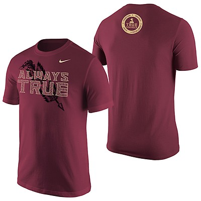save off aeb86 5e01e Nike Men s 2019 True Seminole Short Sleeve T-shirt - Garnet