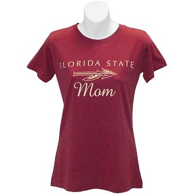 70fec10553c3 Ragz Women s Florida State Mom Relaxed Fit T-shirt - Garnet