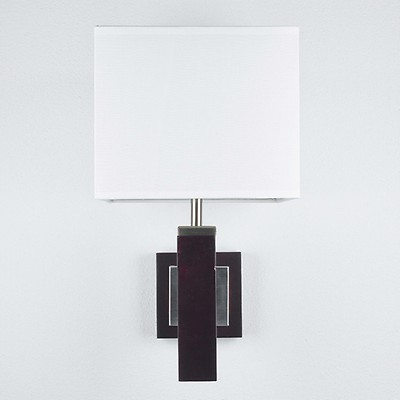 Wandleuchte BAUHAUS Wandlampe /> Wandhalter Silber Glas schwarz-silber