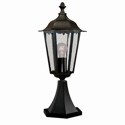 Kleine Wegeleuchte Schwarz H:66cm IP44 aus Aluminium Garten Laterne Lampe Außen