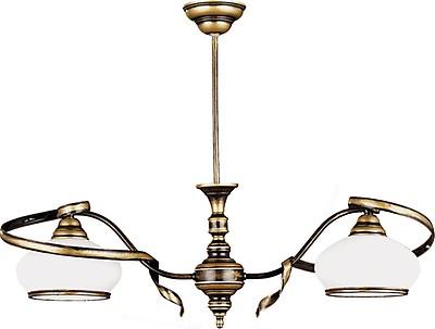 Deckenleuchte PRISCILLA Shabby Weiß antik Glas Ø32,5cm Lampe Wohnzimmer Esstisch