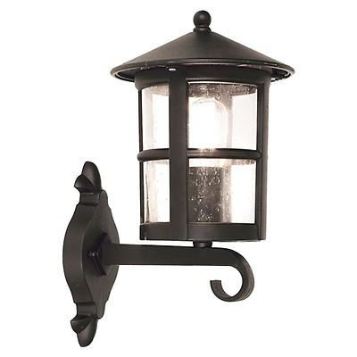 Wandlampe Schwarz Aluminium Glas Rustikal stilvoll FIENNES Außen Leuchte Haus